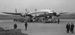 Super Constellation #N6923C - Photo by Ragnor Domstad, June 1961, on the tarmac of Gothenburg (Sweden) Torslanda airport.