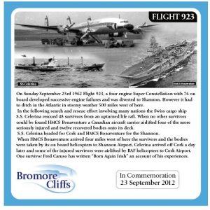 Bromore Cliffs Memorial Plaque