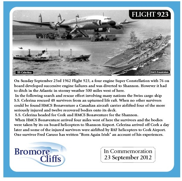 Bromore Cliffs Memorial Plaque