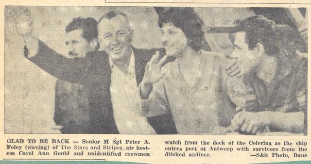Peter Foley waving to onlookers at Antwerp, Belgium.